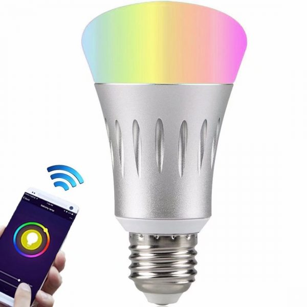 Smart Bulb, Party Mode, Change to any colour, Control with Smart Phone and works with Google Home and Alexa