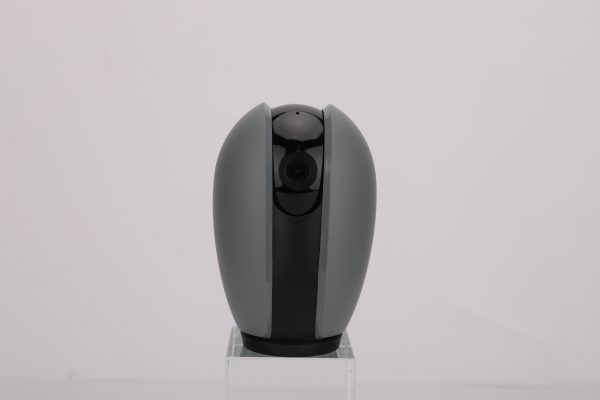 smart camera with 360-degree rotation, voice monitoring, and two-way audio communication.