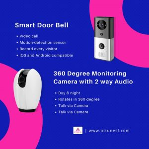 ATTUNE SL Smart camera and smart doorbell with 2 way Audio